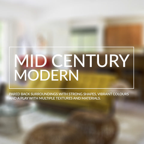 Mid Century Modern interior design inspiration recreate the look