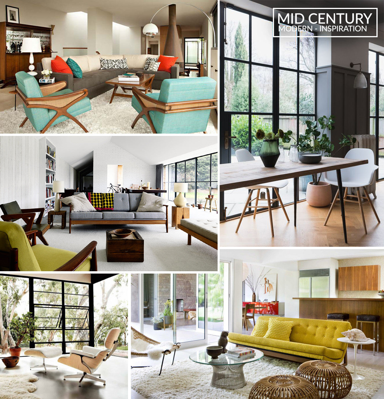 Image of: Top Inspiring Mid Century Modern Interior Design Multitude 5676 Wtsenates