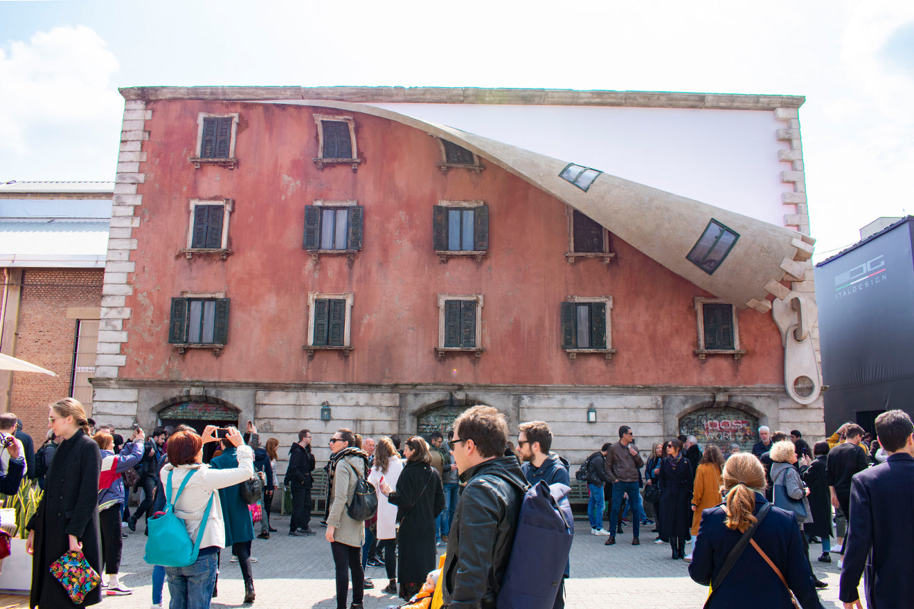 Unzipped House by Alex Chinneck - 'World Revealed' at Milan Design Week 2019