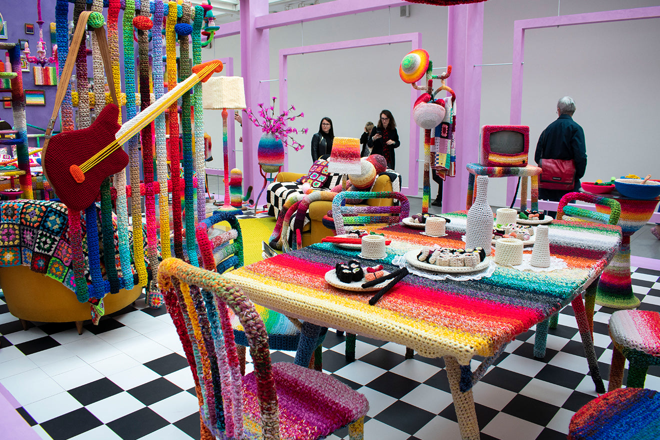Missoni collaborate with Alessandra Roveda to create the crochet home during Milan Design Week