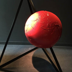 Bright Red Globe Artwork Sculpture