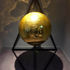 Golden globe art modern hotel