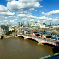 View from Hotel balcony hotel suite Mondrian London