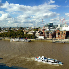 View of the Thames from the Mondrian Hotel London