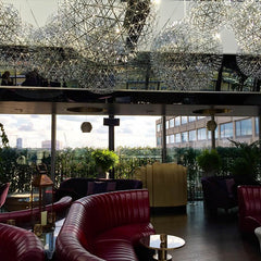 Rumpus room bar and lounge area. Rooftop london