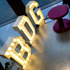 Graphic Letter lighting from Moooi