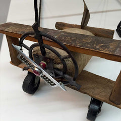 vintage wooden airplane from Moooi
