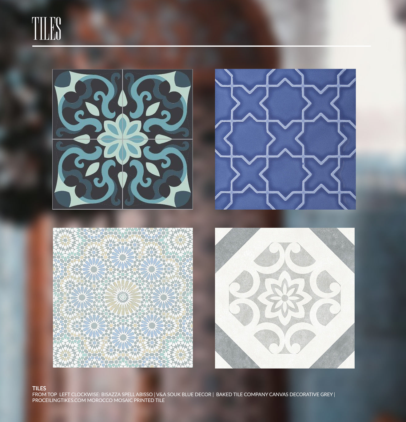 Moroccan tile design inspiration for the home