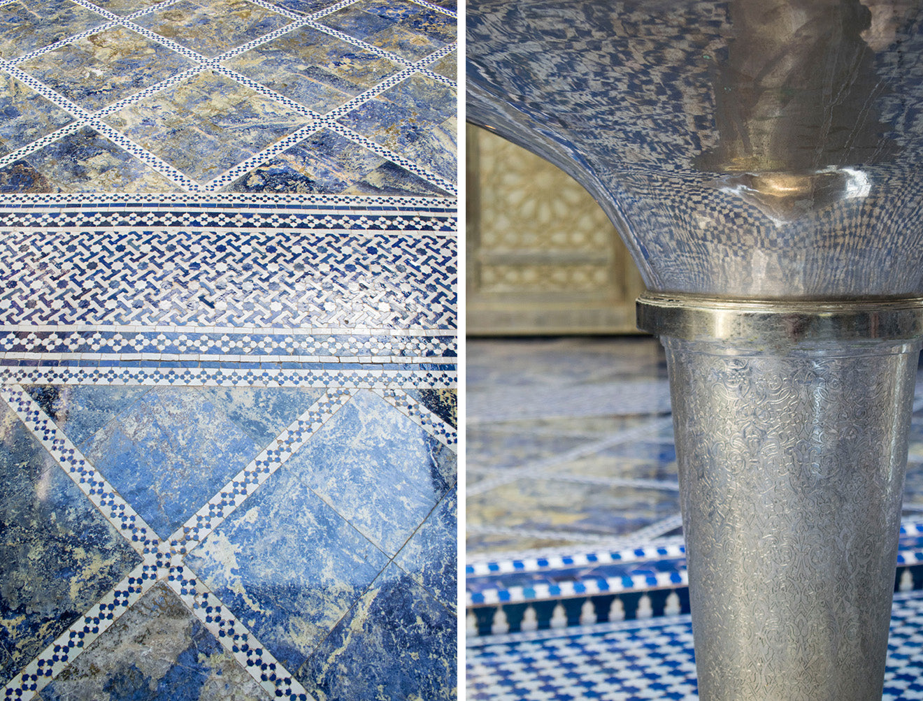 Beautiful blue moroccan tiles