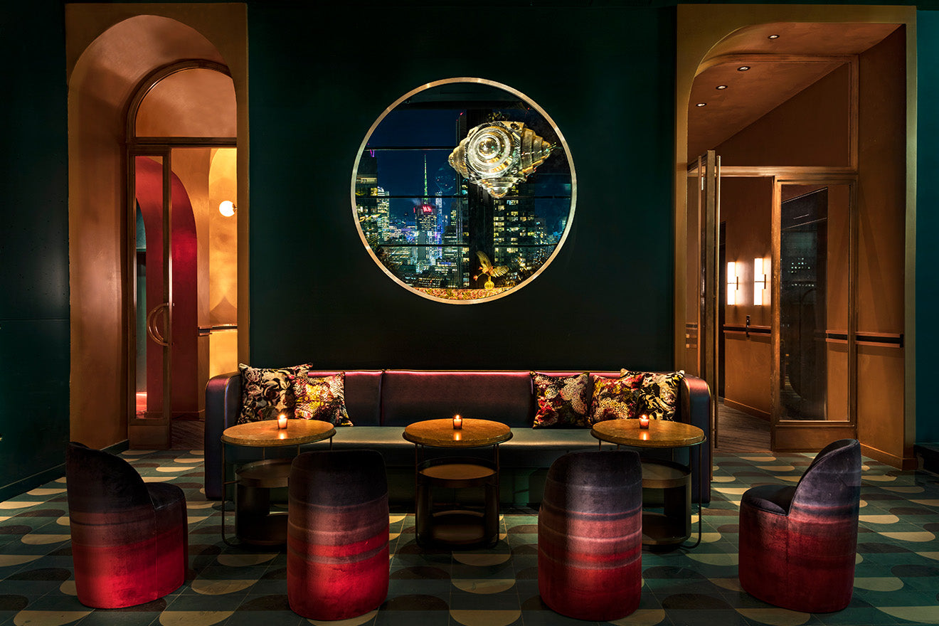 Moxy Chelsea Hotel New York Interior Design Rooftop Bar