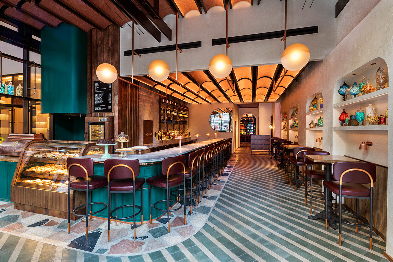 Moxy Chelsea Hotel New York Interior Design Restaurant
