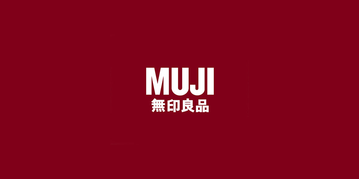 Muji official logo red background