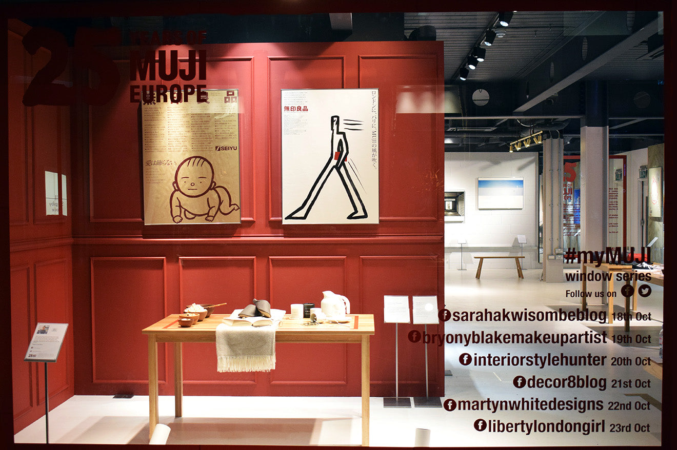 #MyMUJI window display designed by Bloggers for the 25 European anniversary