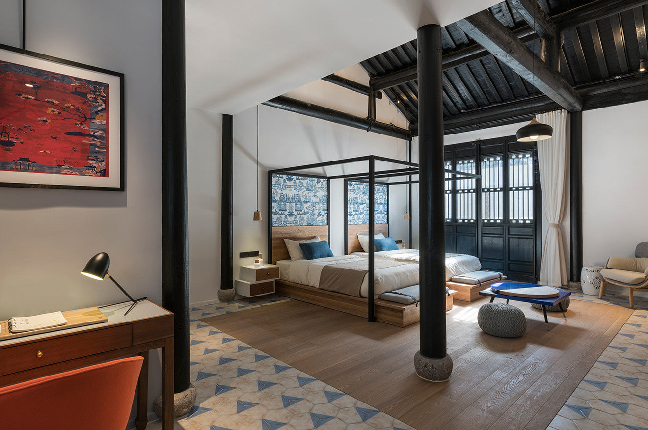 Nanxun Hotel double bed suite designed by Dariel Studio