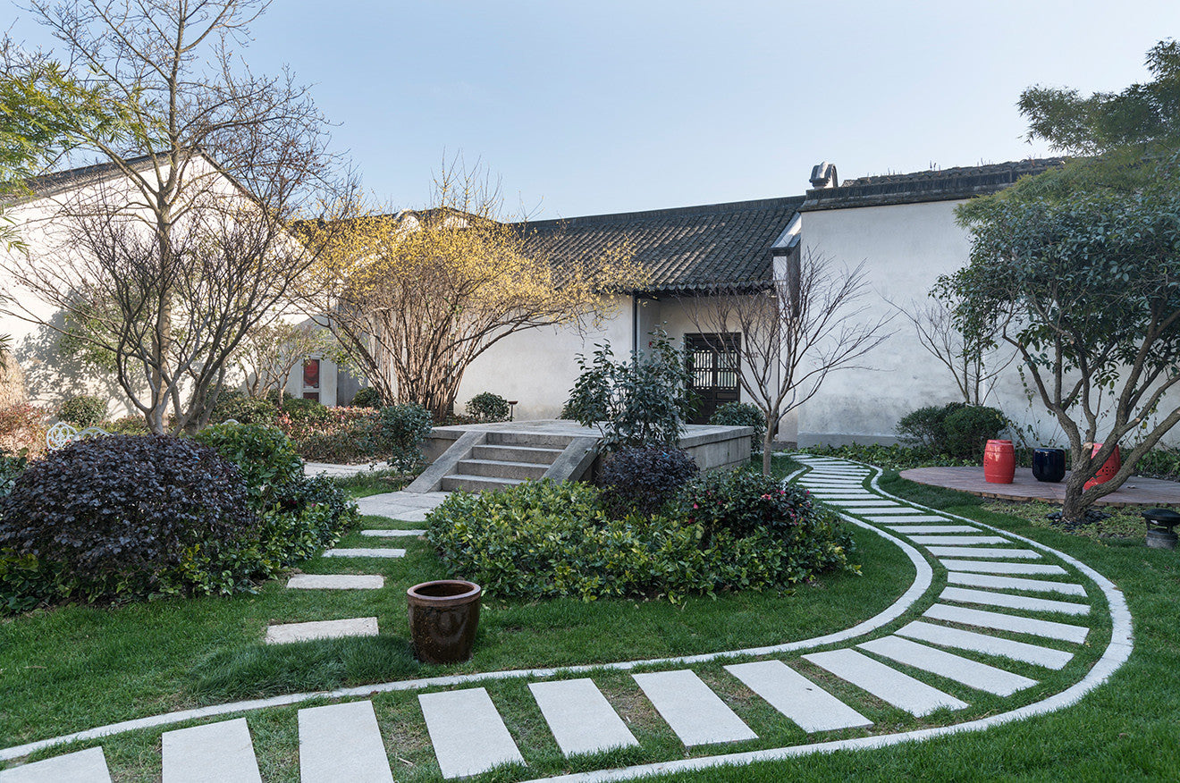 Nanxun Hotel gardens and grounds, designed by Dariel Studio