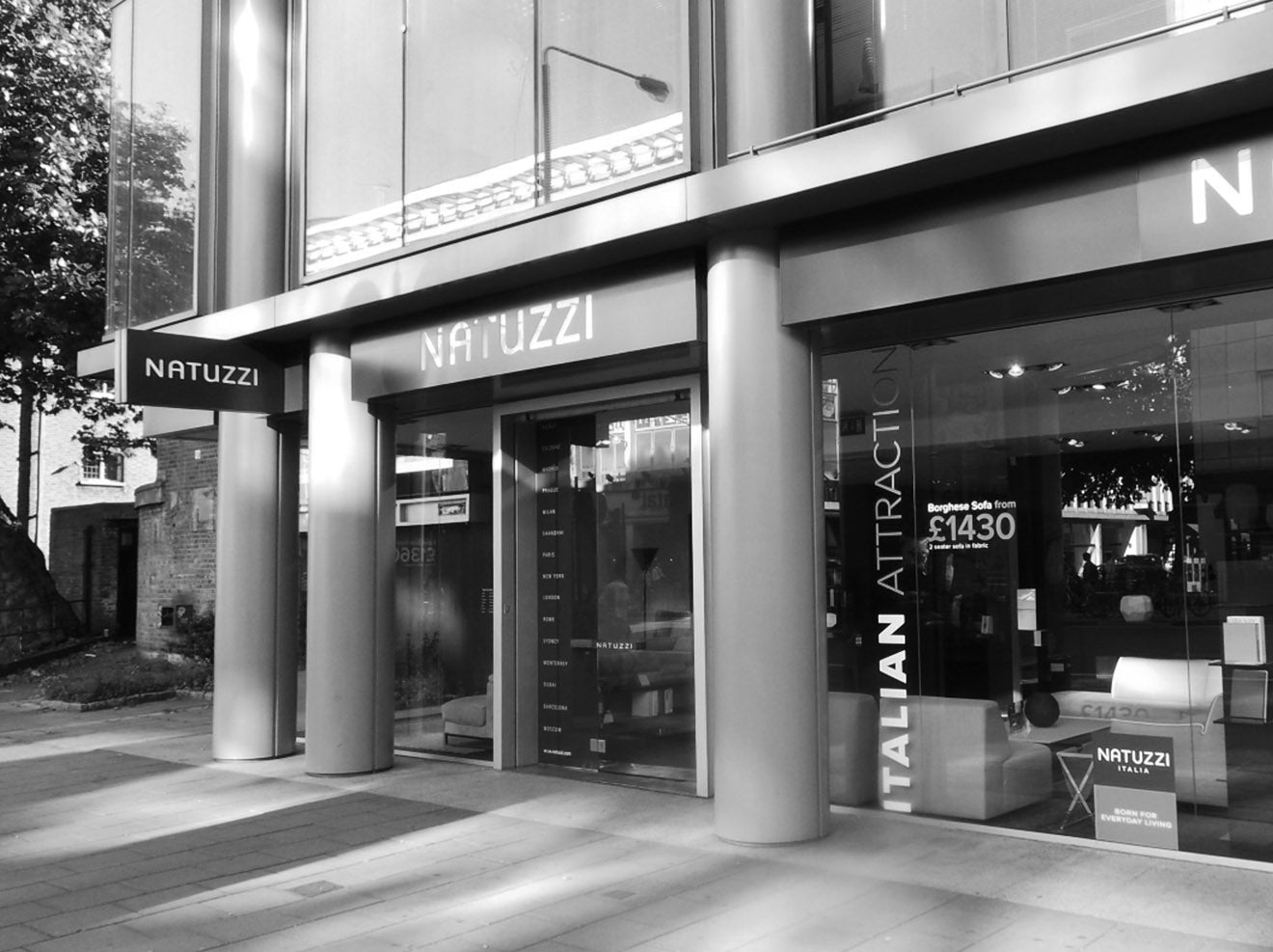Natuzzi London store flagship Tottenham Court Road