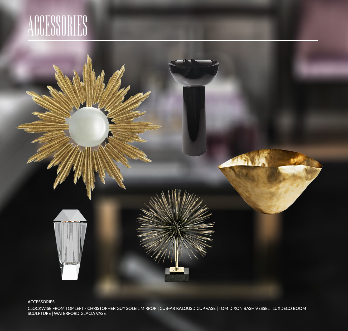 Modern Art Deco luxury home accessories