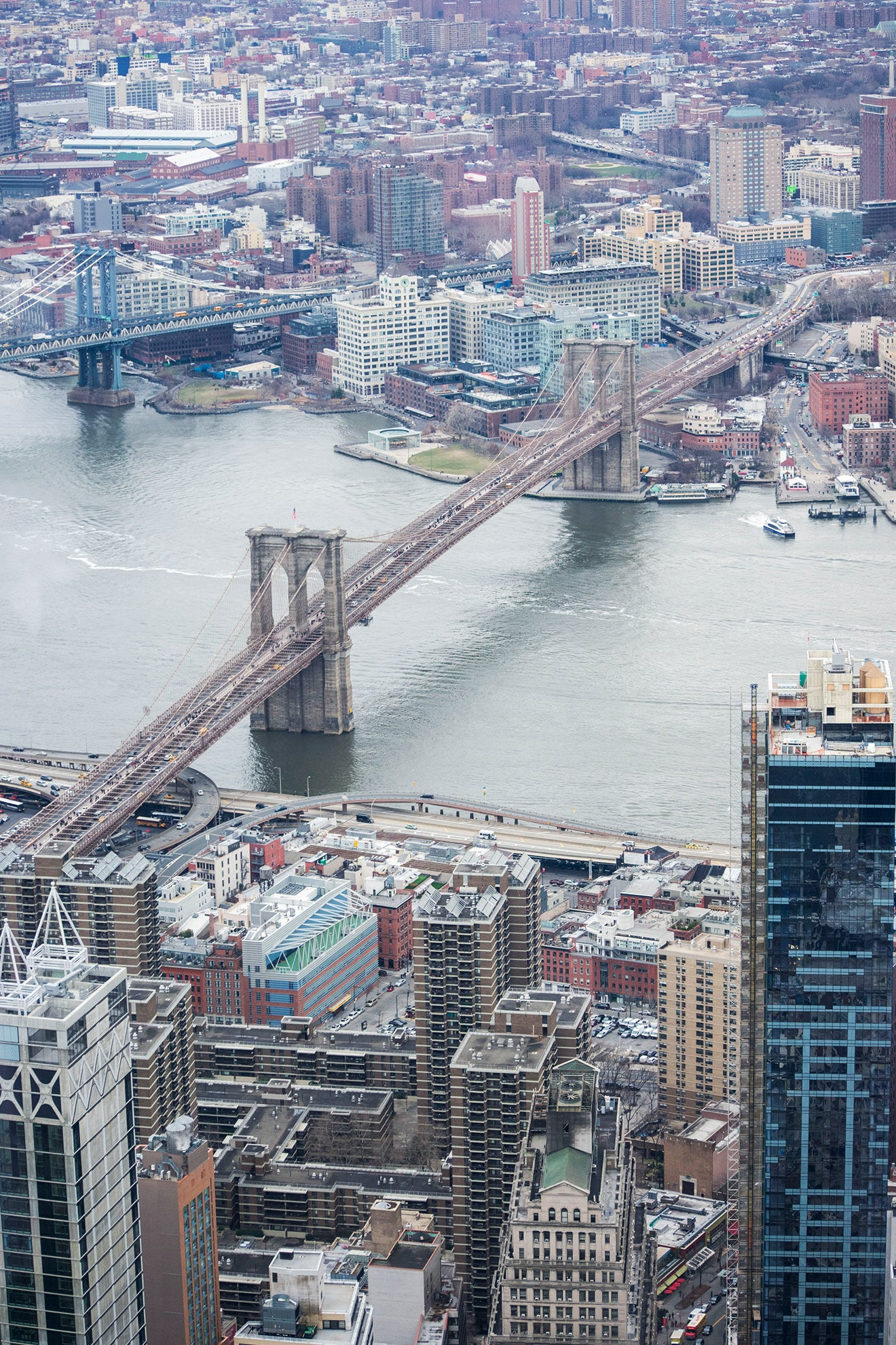Brooklyn Bridge from the top of the World Trade Center
