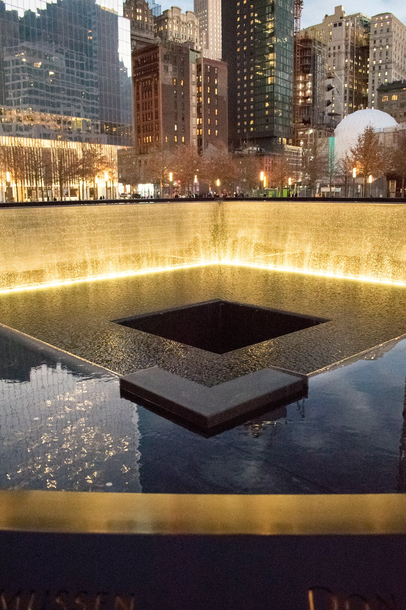 World Trade Centre 9/11 Memorial fountain New York