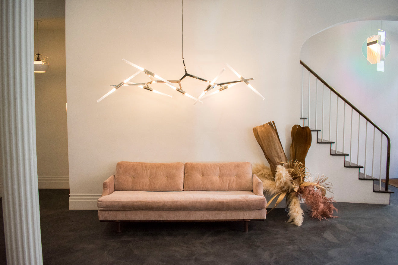 Roll & Hill showroom New York luxury furniture and lighting designs