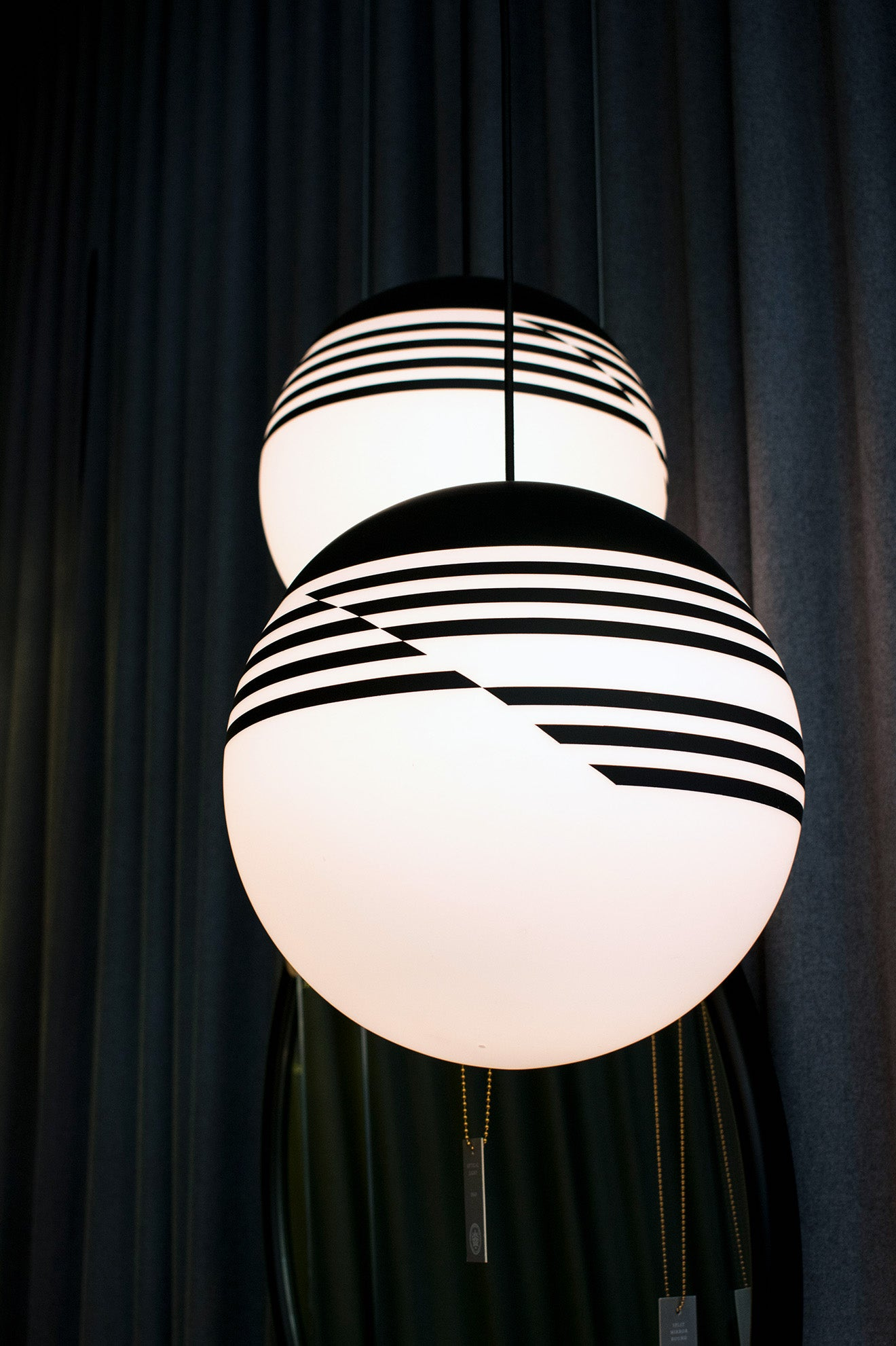 Lee Broom Opticality striped pendant lamp