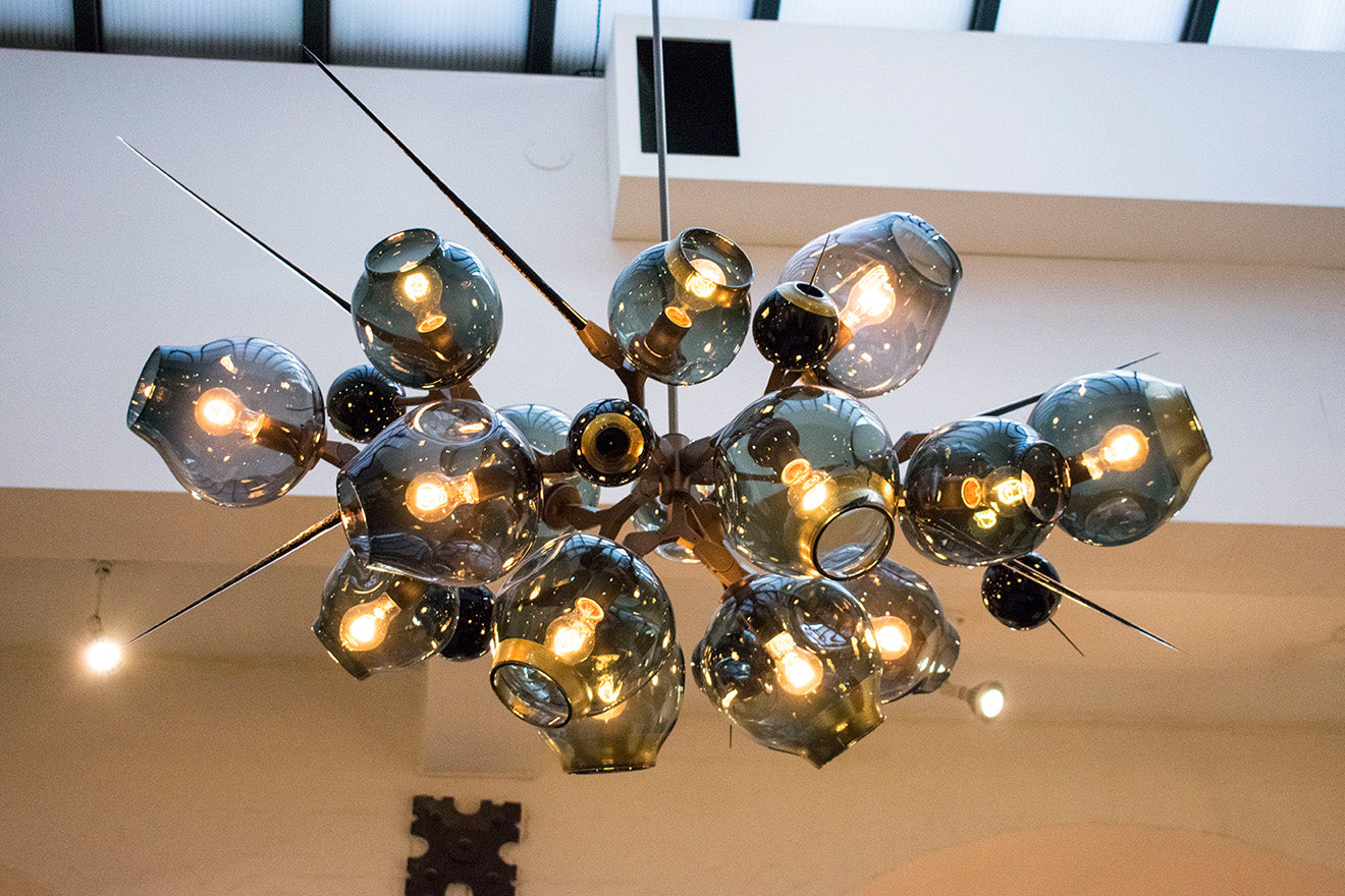 The BDDW Showroom New York Furniture Designs spiked light design