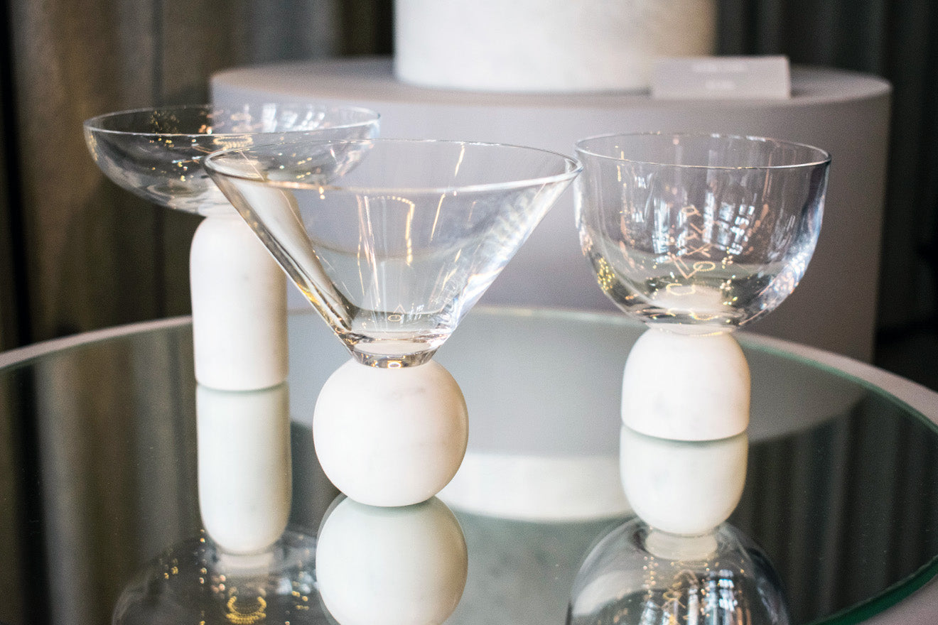 Lee Broom marble and glassware collection