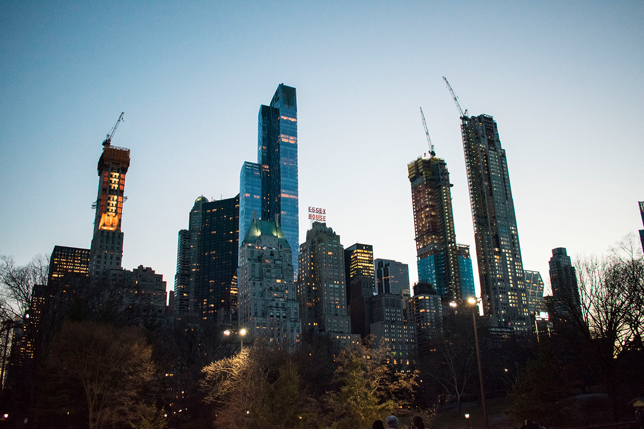 New York travel Central Park at night