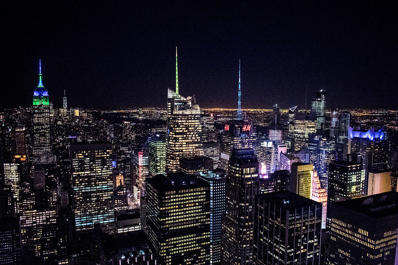 New York Travel Blog Top Of The Rock Viewing Gallery at night