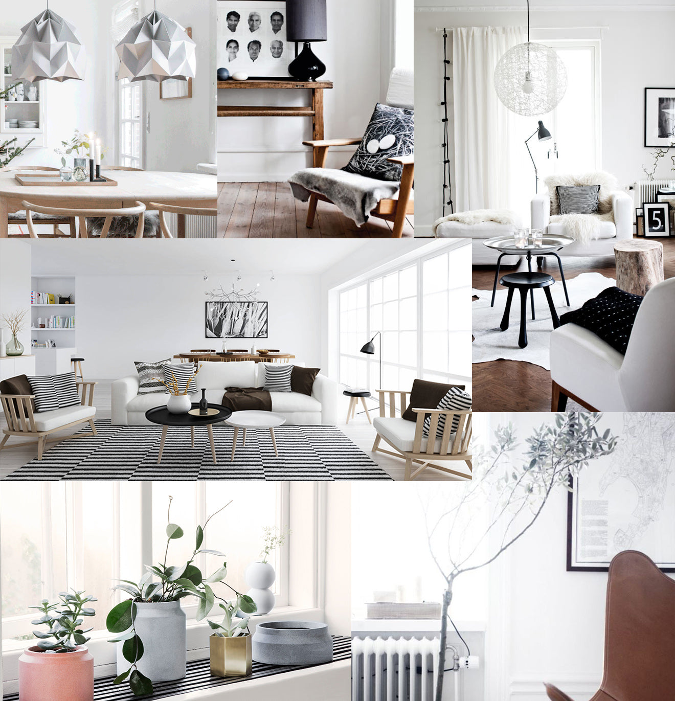 Nordic interior design inspiration mood board