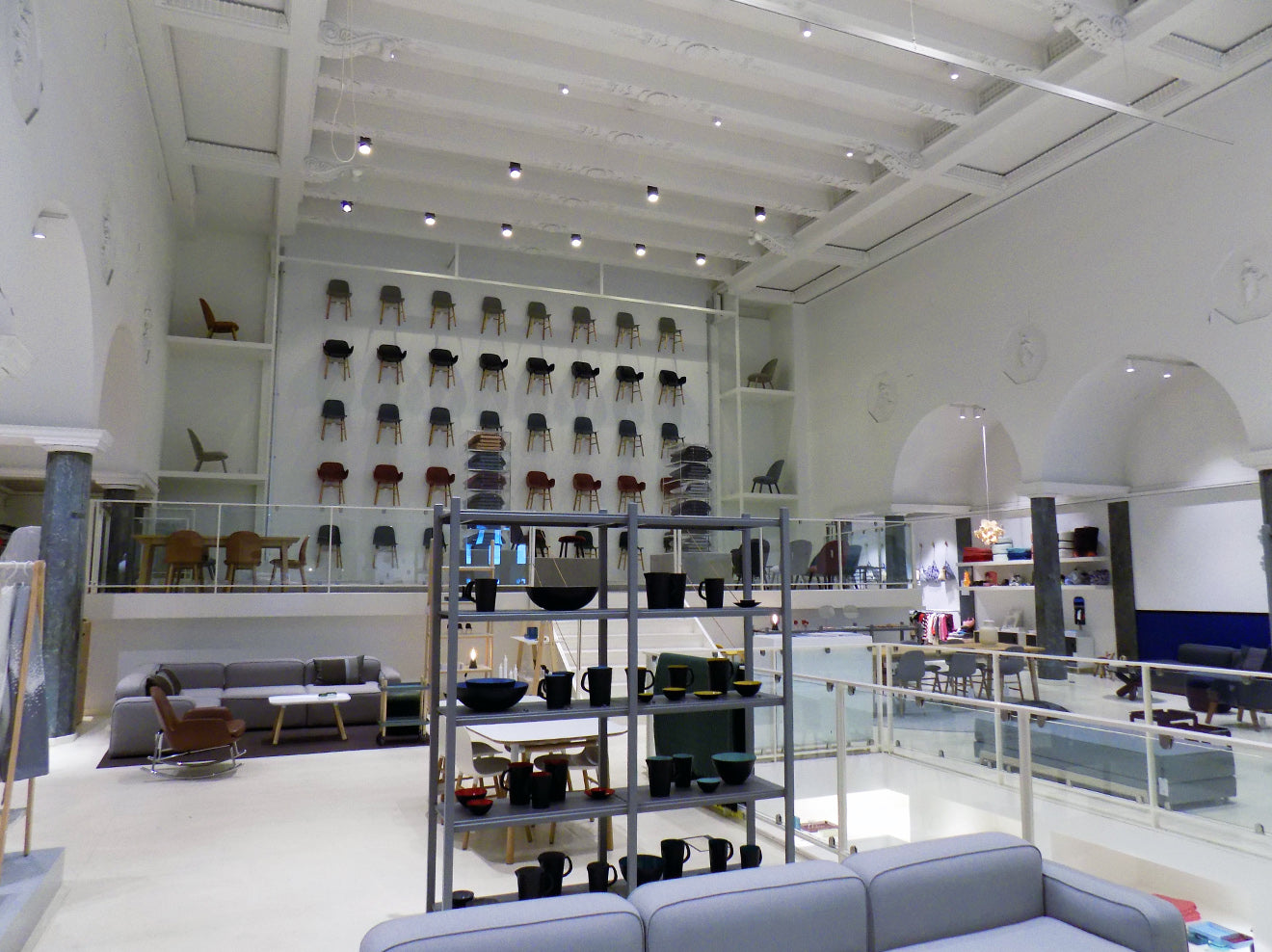 Converted cinema in Copenhagen that is now the Normann Copenhagen flagship store