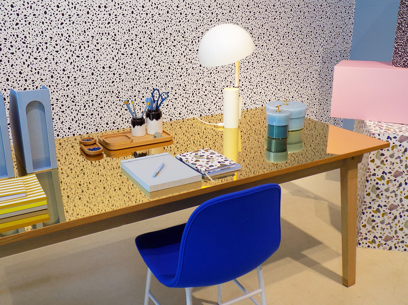 Normann Copenhagen flagship store designer stationary collection