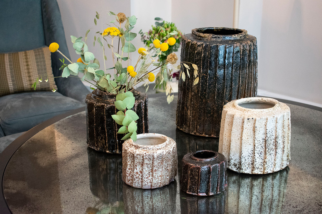 Flow Gallery Ceramics by Hans Vangso hosted at the OCHRE showroom London