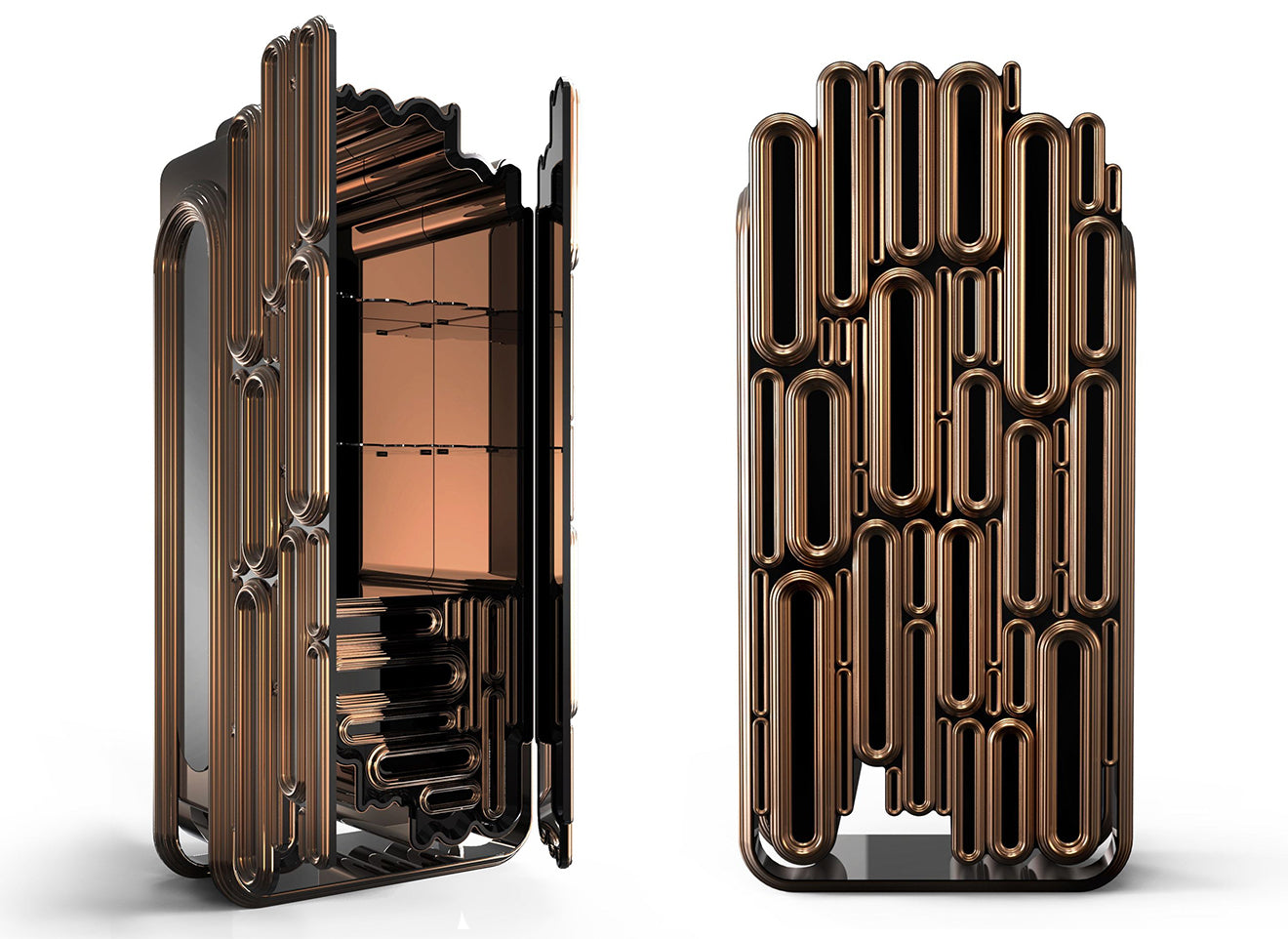 Bronze oblong cabinet from Boca Do Lobo