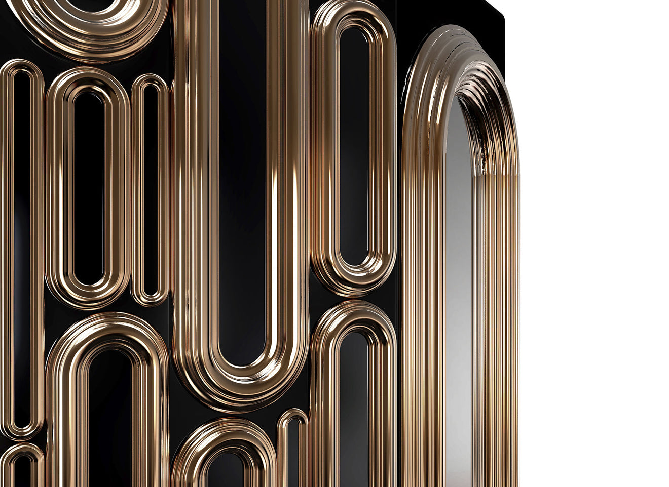Bronze oblong cabinet detail from Boca Do Lobo