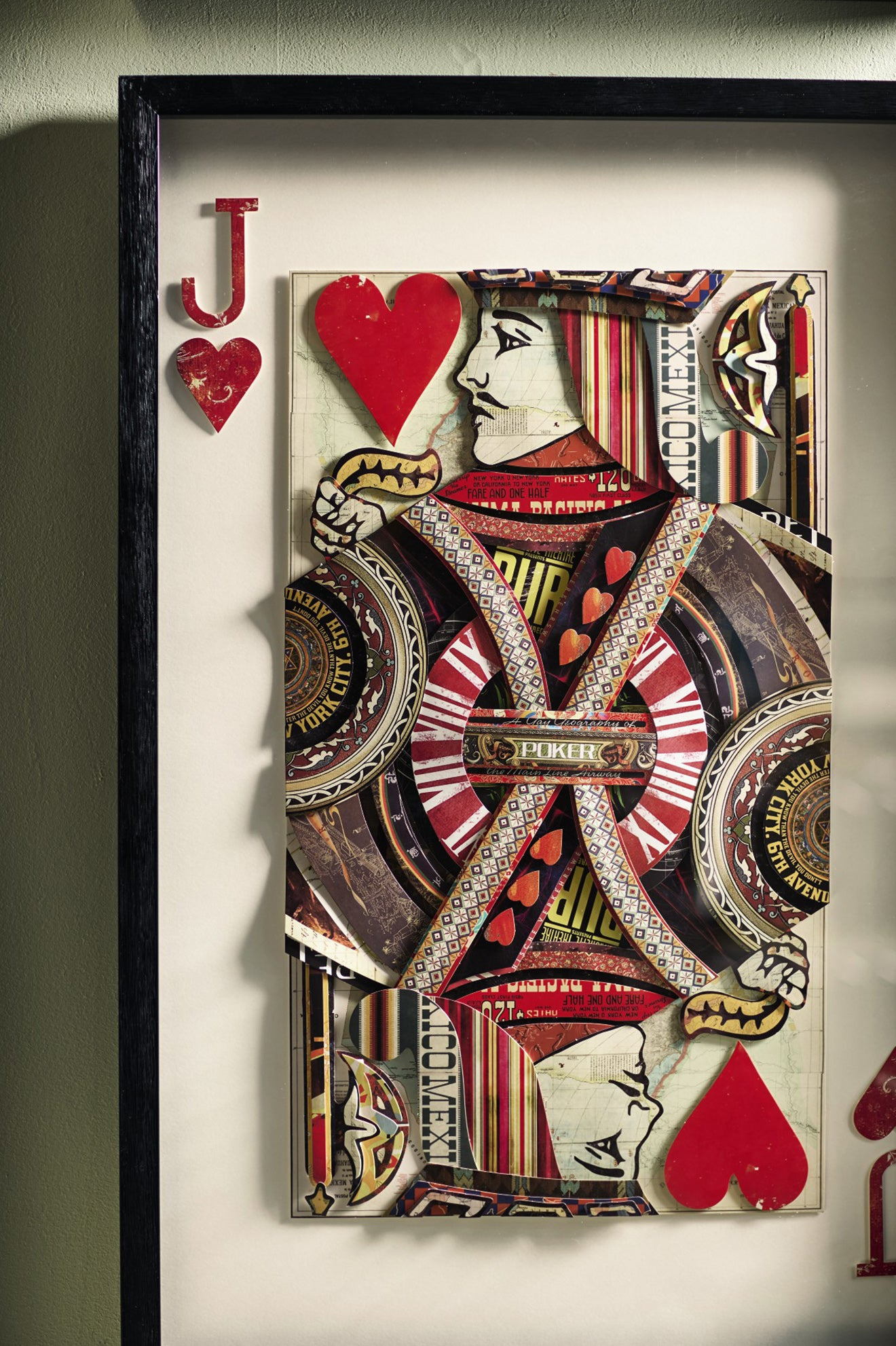 Oka style space by Martyn White Designs featuring playing cards artwork