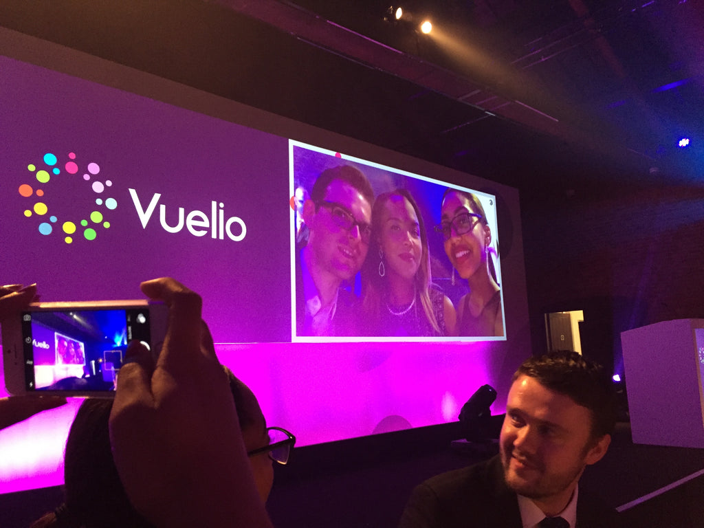 Martyn White Designs on the big screen at the Vuelio Blog Awards 2015