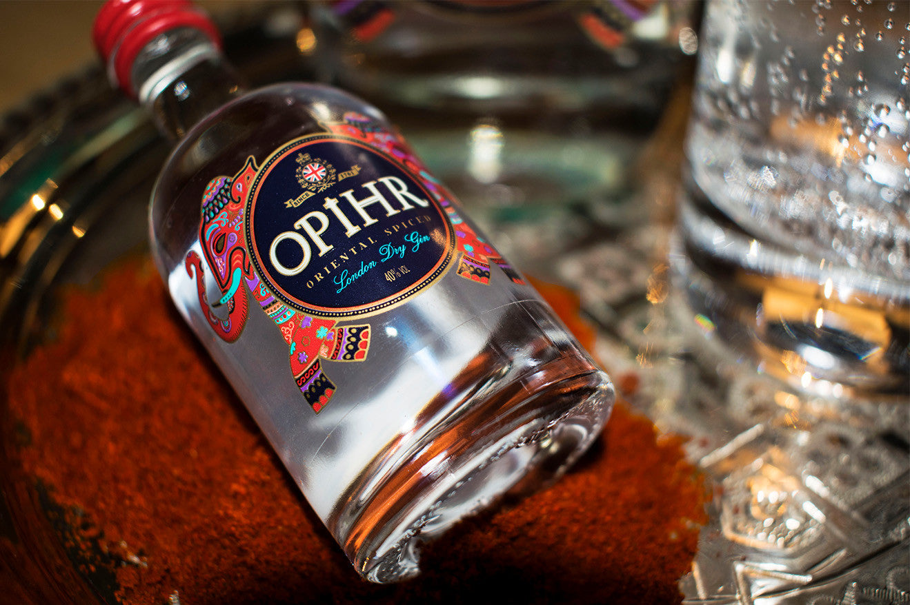 Opihr gin red spice Moroccan detailing