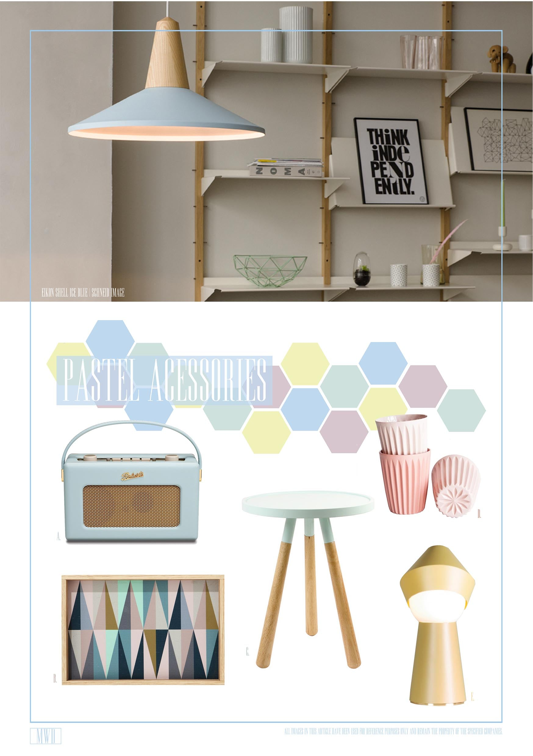 Pastel home accessories and appliances inspiration