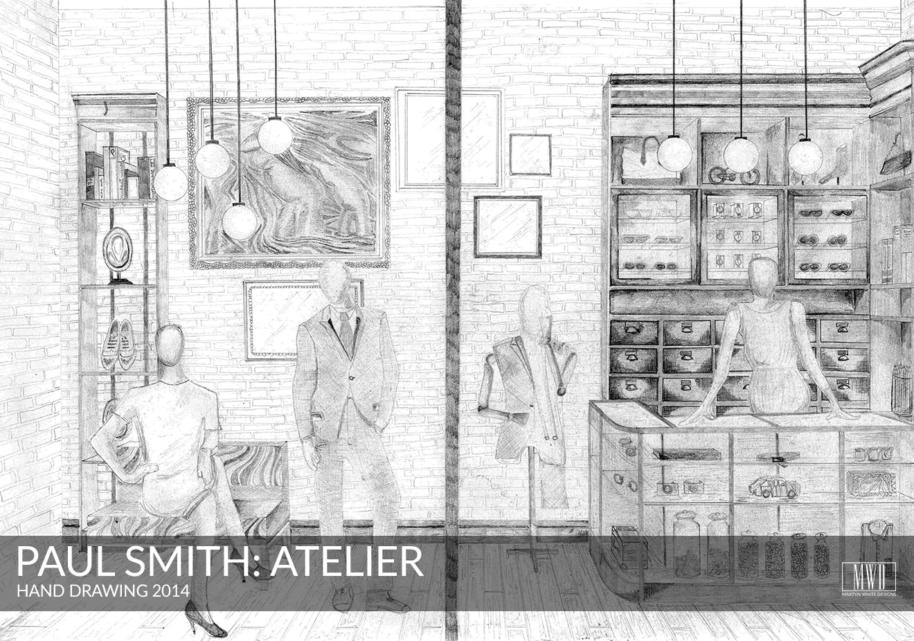 Paul Smith Atelier Hand Drawing Martyn White Designs