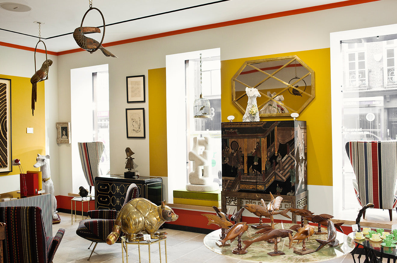 Paul Smith yellow home store for home and antiques