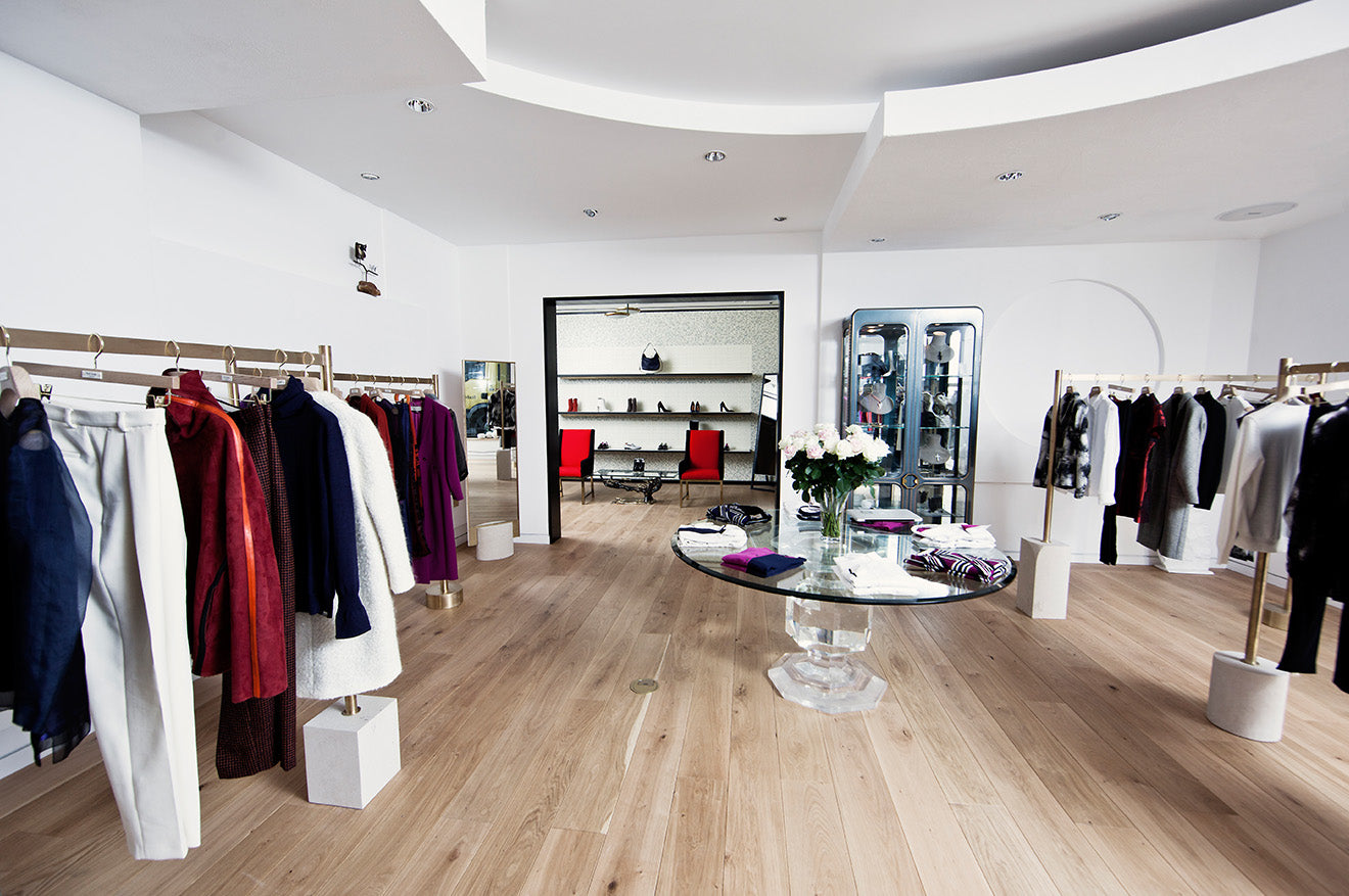 Paul Smith womenswear collection store interior design London Albermarle Street