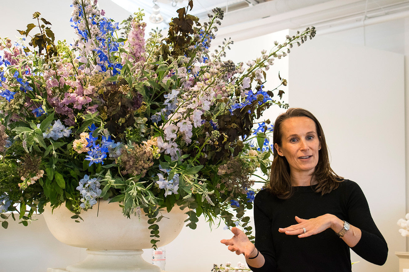 Philippa Craddock floral styling workshop at the Chelsea Design Centre