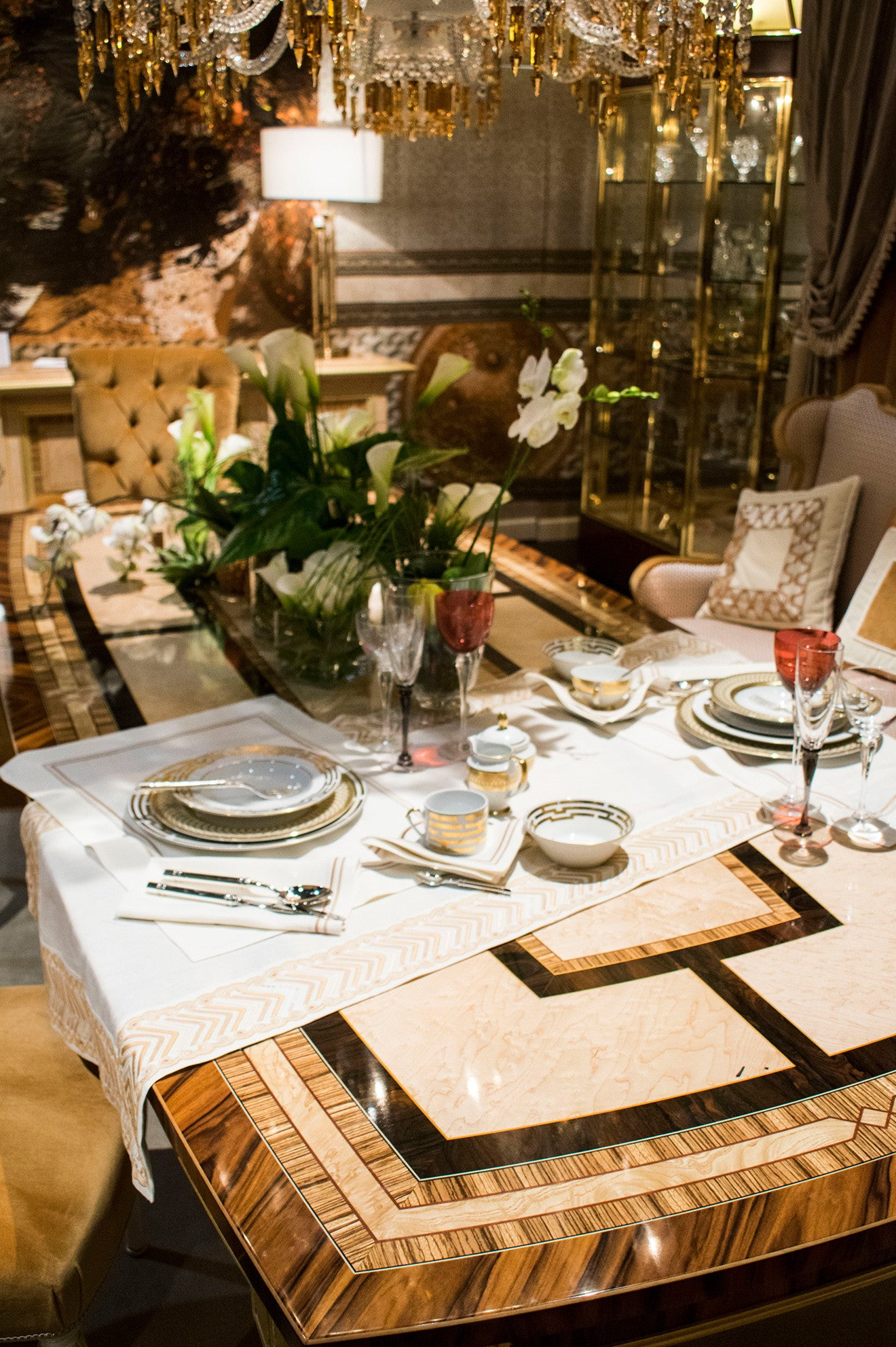 Provasi luxurious dining table setting Salone del Mobile