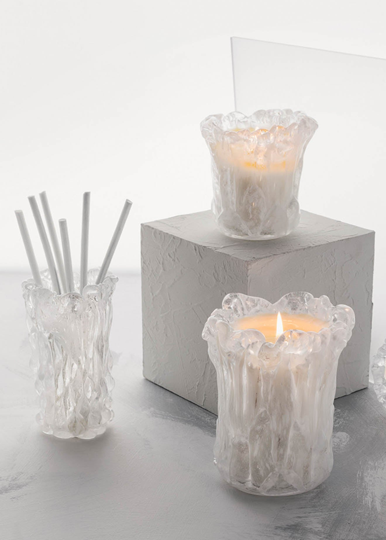 Tom Dixon Quartz collection of scents and candles