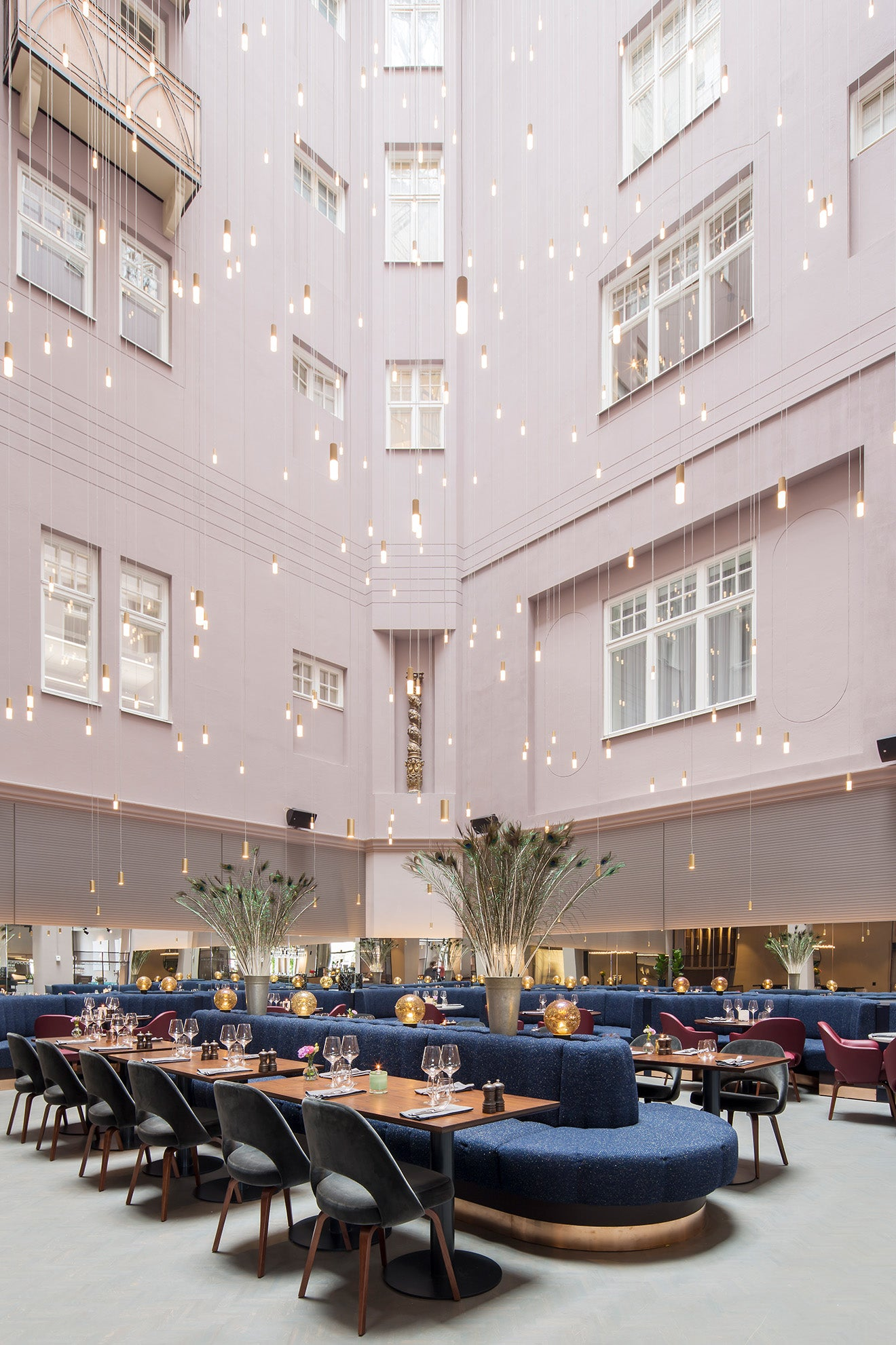 Radisson Collection Strand Stockholm Restaurant with Lighting Feature