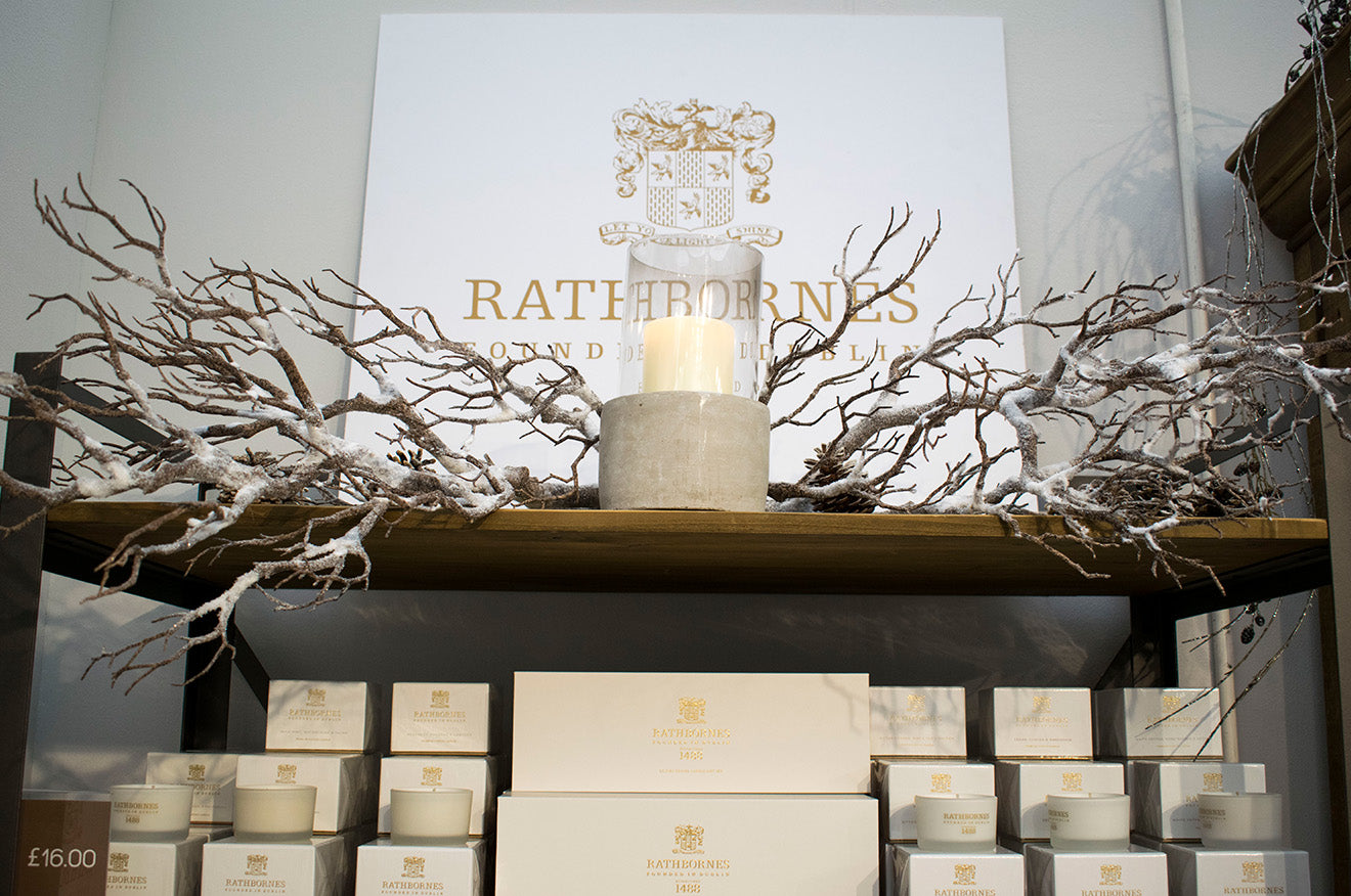 Rathbornes candles on display at the Spirit of Christmas