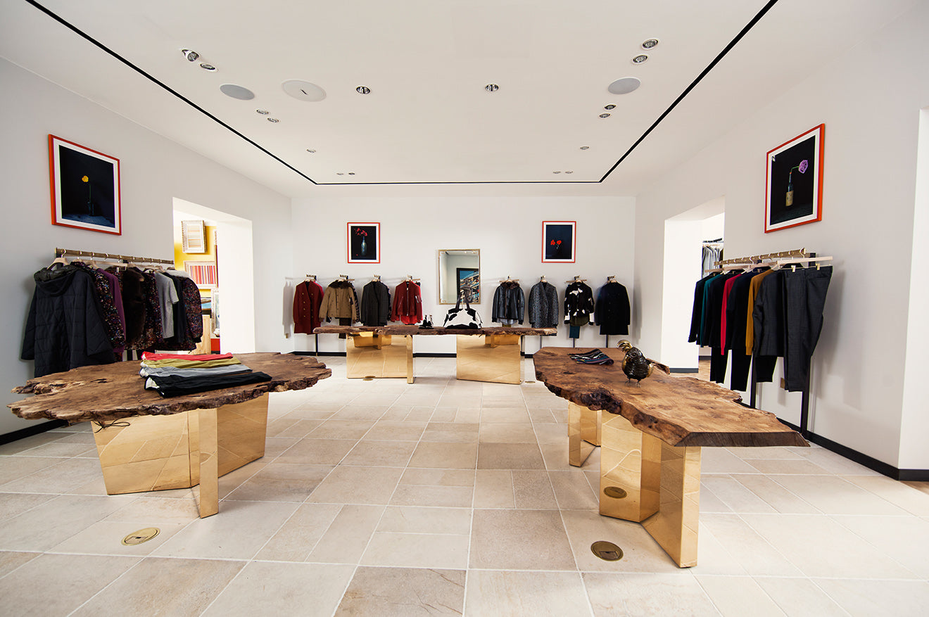 Paul Smith Menswear collection luxury store design London Albermarle Street