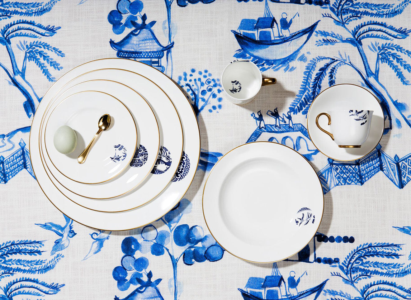 Richard Brendon Details from Willow crockery, cups and saucers