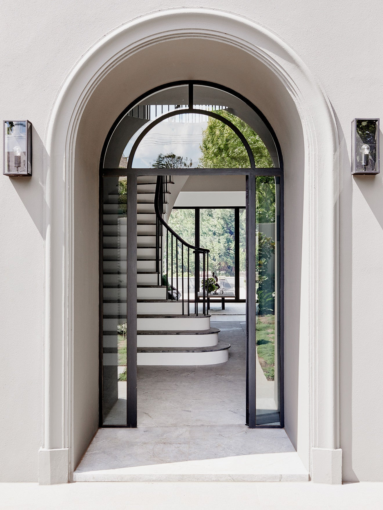 Robson Toorak luxury interior design Toorak 2 house arched entrance